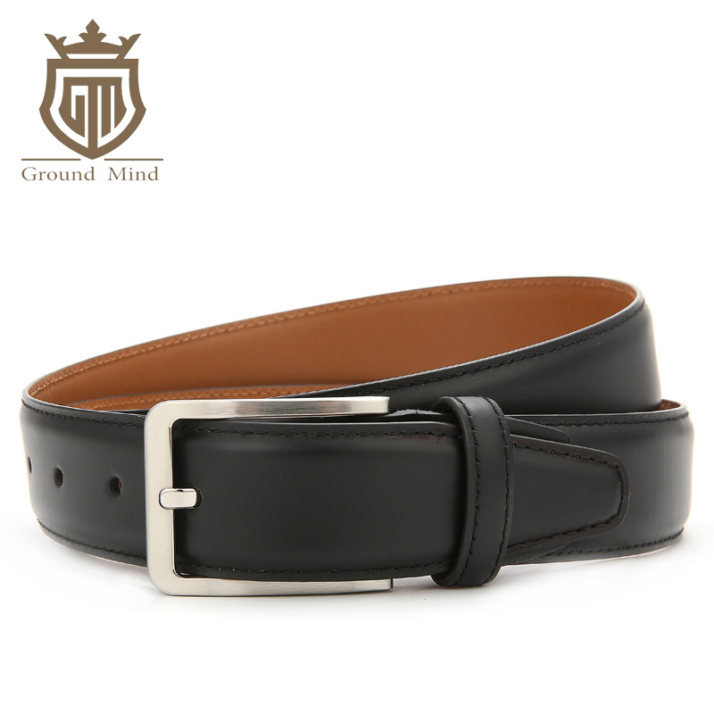 Men's first layer cowhide belts high quality luxury dress belt genuine leather belts for men