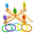 Дети Деревянные Игрушки Многоцветный 3-в-1 Игрушки Подарочный Набор Детей Деревянная Игра Рыбалка Кольца Бросить Игры Раннее Образование Игрушка
