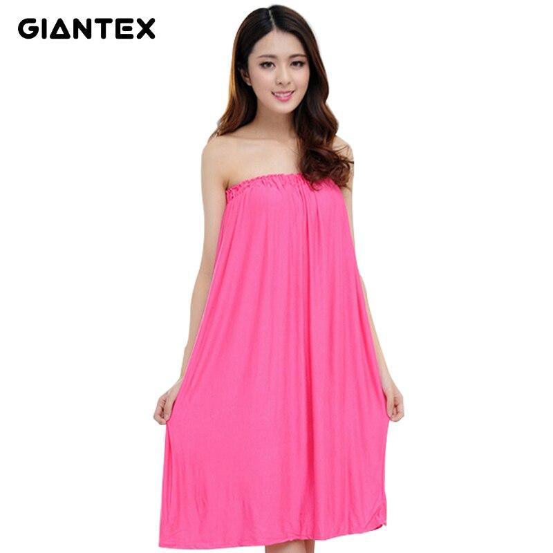 GIANTEX Women Thin Cotton Bath Towel Bath Robe Bathrobe soft Body Spa Bath Bow Wrap Towel Super Absorbent Bath Gown U1488