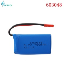 3.7V 780mAH 603048 25c Lipo Battery For WLtoys V686 V626 V636 X250 Q222 V686G Remote Control Aircraft 3.7v Li-po battery