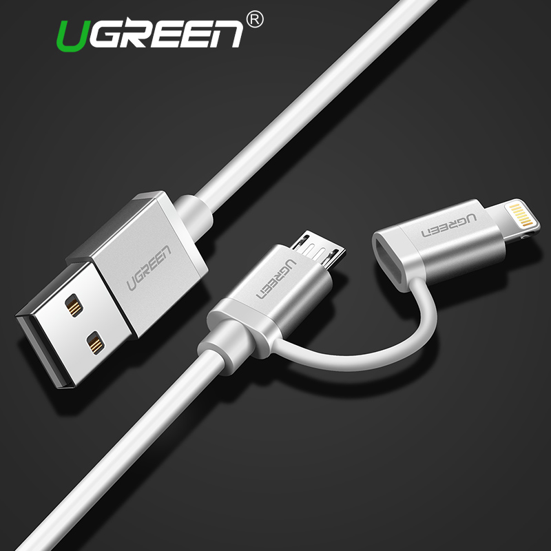 iphone lightning charger ugreen 2 in 1 lightning to micro usb cable 2 4a charging 11995