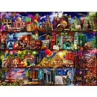 Diy Diamond Embroidery Cross Stitch Complete Square Rhinestones Cartoon World Pictures Painting Wall Art Diamond Mosaic