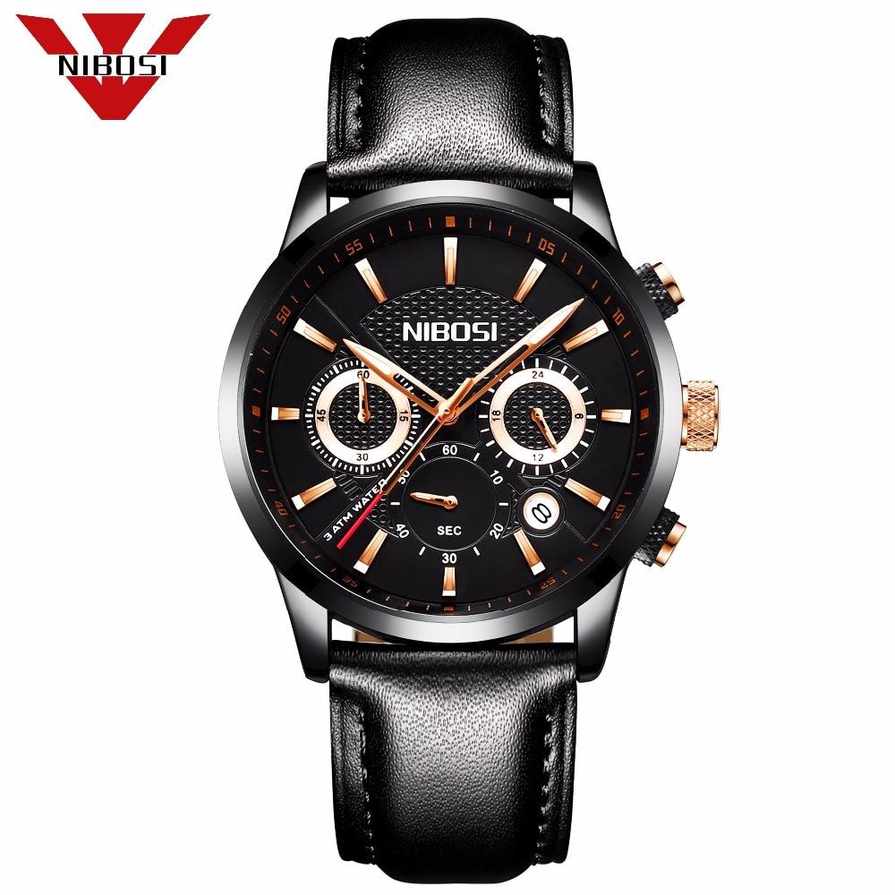 NIBOSI Official Men s Luxury Business Quartz Watch Casual Fashion Classic Analog Man Wristwatch Calendar Date