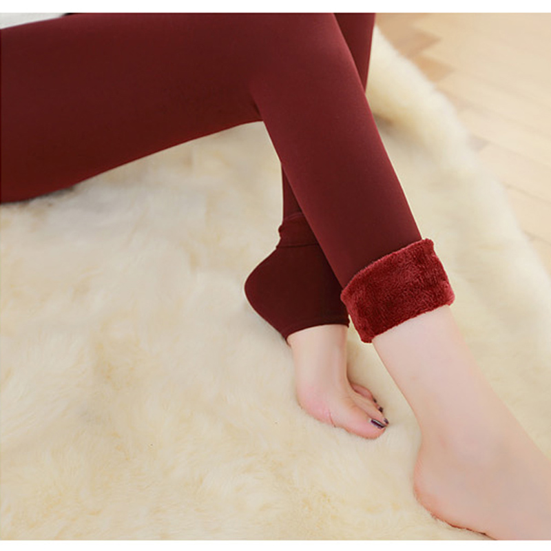 Image 5 - Autumn Winter Fashion Explosion Model Plus Thick Velvet Warm Seamlessly Integrated Inverted Cashmere Leggings Warm Pants-in Leggings from Women's Clothing