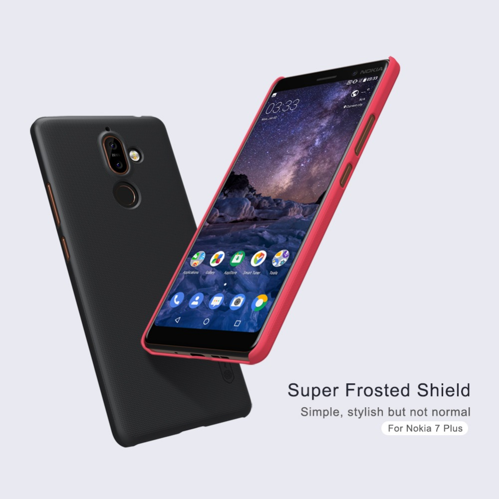 Matte Case For Nokia 7 Plus Nillkin phone Super Frosted Shield Case Back Cover For Nokia 7 PC matte Plastic Hard Back Cover Case
