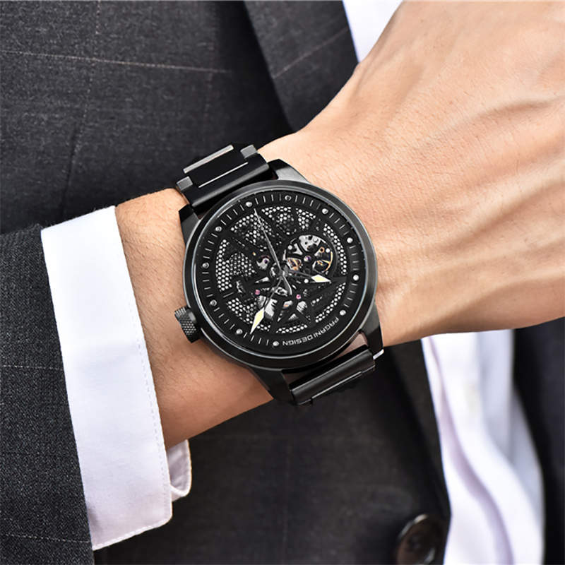 PAGANI DESIGN Top Brand Luxury Men Full Steel Mechanical Watches Sport skeleton Automatic Self-Wind Men's Watch montre homme
