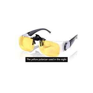 Image 3 - المحمولة الصيد بزجاج الكامل إطار الزجاج تلسكوب المكبر مناظير نظارات في الهواء الطلق الاستقطاب النظارات الشمسية اكسسوارات T45