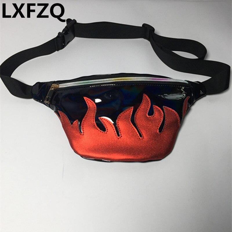 Cinto saco NOVO pacote de cintura bloco de fanny saco da cintura marca de material Fosco bolsa translúcido reflective Laser no peito saco da cintura fanny pack
