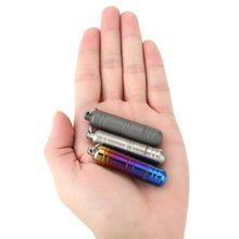 Travel Portable WaterProof Titanium Mini EDC Container Seal Bottle Pills Box Keychain Camping Outdoor Emergency Kit Tool