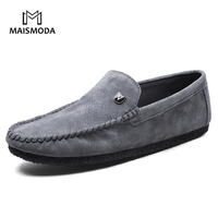 MAISMODA Men Suede Casual Shoes 2018 Spring Summer Men S Flats Loafers Male Slip On 3