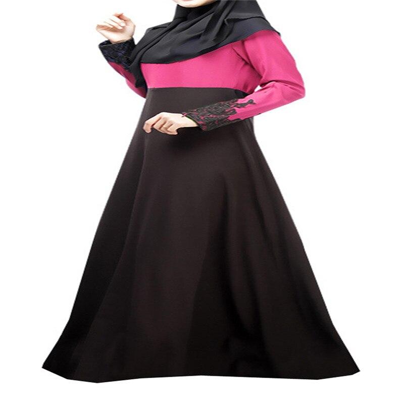 Bubble Tea Women Muslim Islamic Dress Long Sleeve 2Color Dubai Abaya - Pakaian kebangsaan - Foto 3