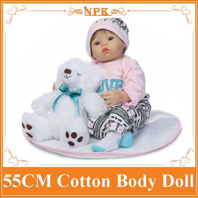 Very Cute Brinquedos For Girls Lifelike Soft Silicone Bebe Reborn Baby Dolls Baby Alive Lovely Toys 22inch NPK Newborn Dolls stuffed toys about 55cm npk bonecas silicone reborn baby dolls safe and big eyes for 22inch soft vinyl alive baby toy for girls