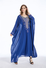 Muslim kaftan dubai long sleeve dress with diamonds for women Islamic clothing gown abaya for girls