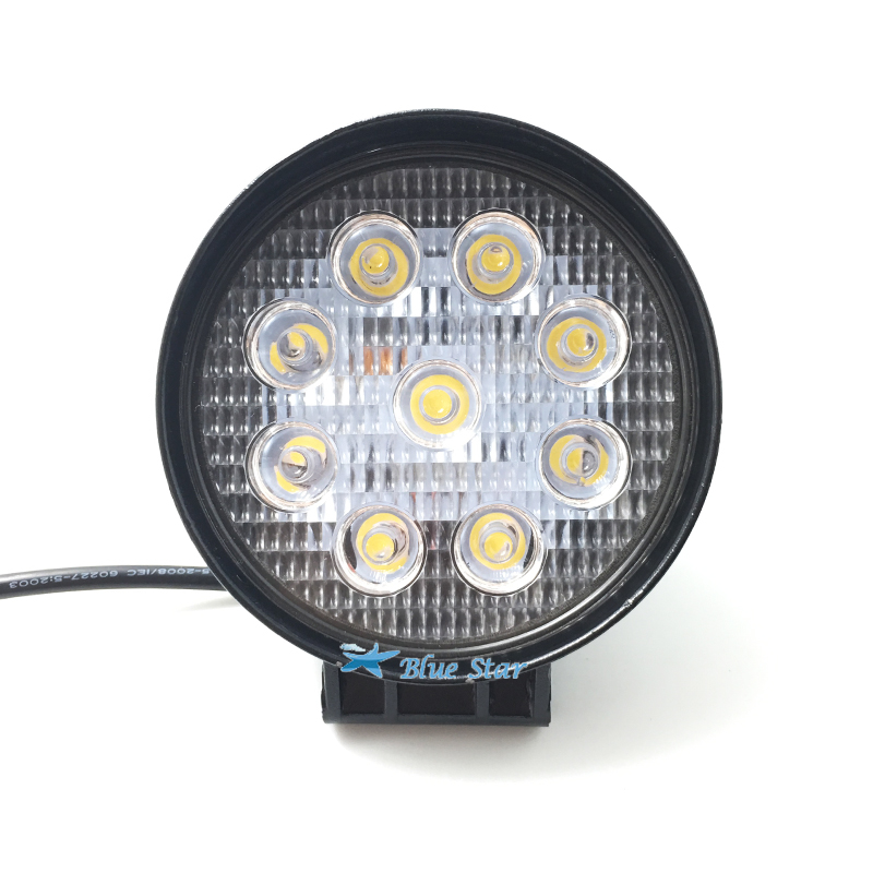 4 Inch 27w 12v 24v Led Work Light Spot Flood Round Led