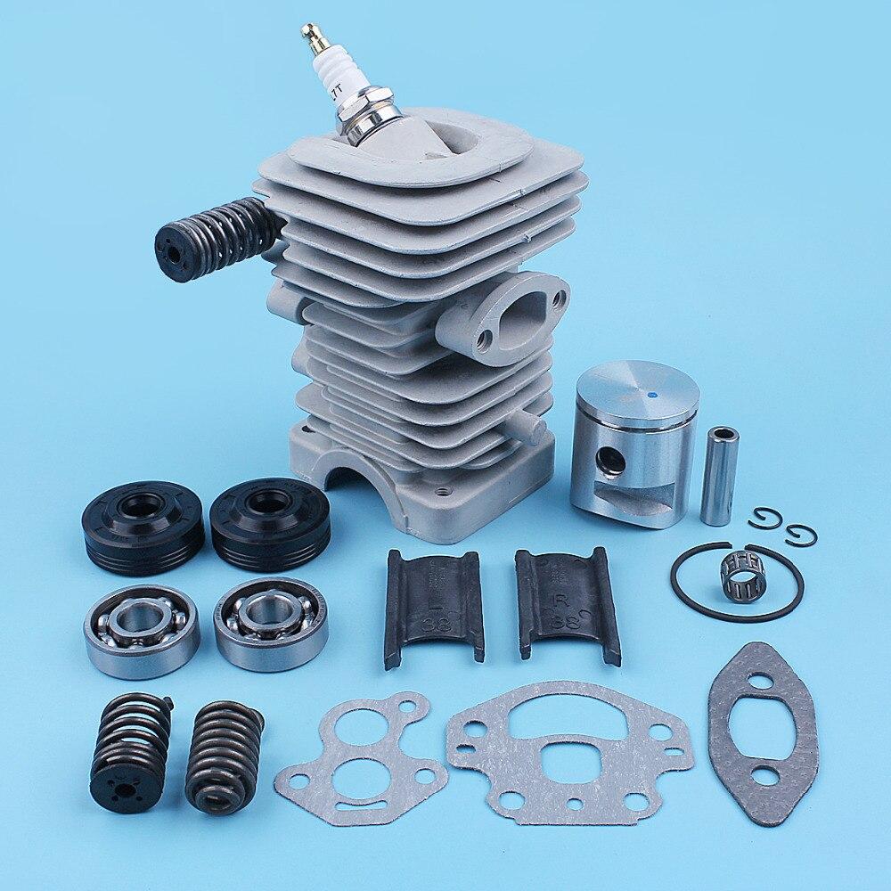 39mm Cylinder Piston Crank Bearing Seal Gasket Kit For Husqvarna 240 240E 235E 235 236 236E Chainsaw AV Buffer Mount Spring Set