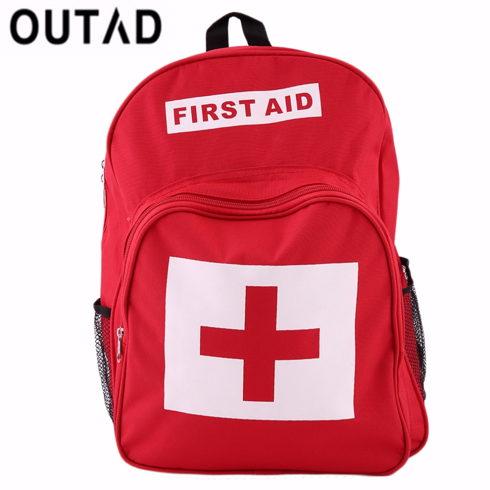 OUTAD Medical Bag Backpack for First Aid Kit Survival Travel Camping Hiking Medical Emergency Kits Bag Safe Outdoor Wilderness 35pcs pack travel outdoor safe camping hiking travel emergency emergency box case first aid kit survival