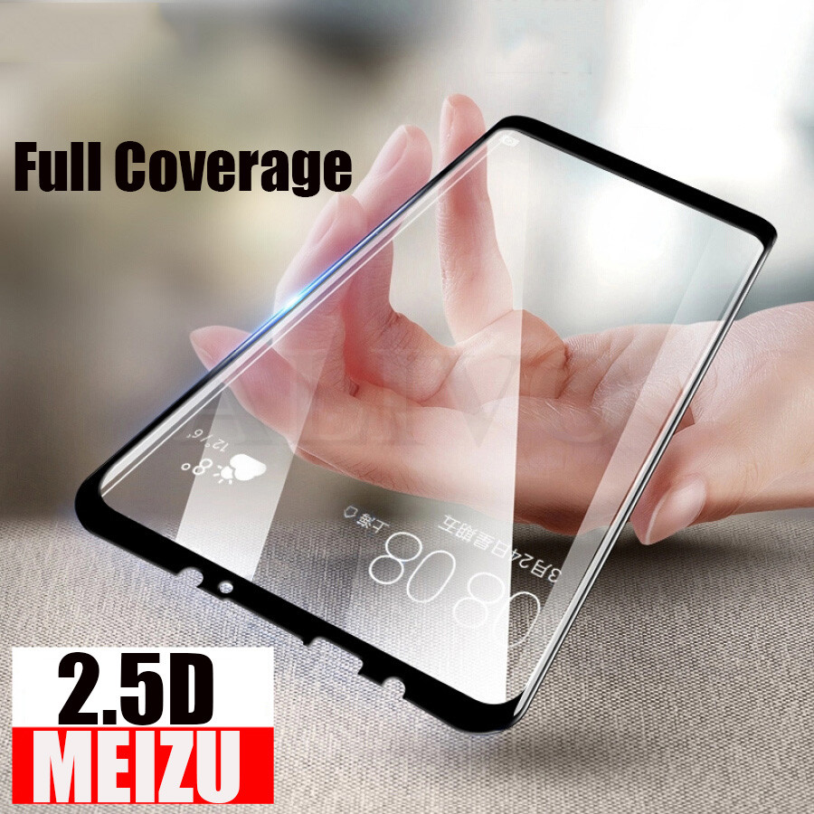 2.5D Premium Tempered Glass Full Coverage For Meizu 16 15 Plus 9H Screen Protector For Meizu 15 Lite 16X Proticve Film