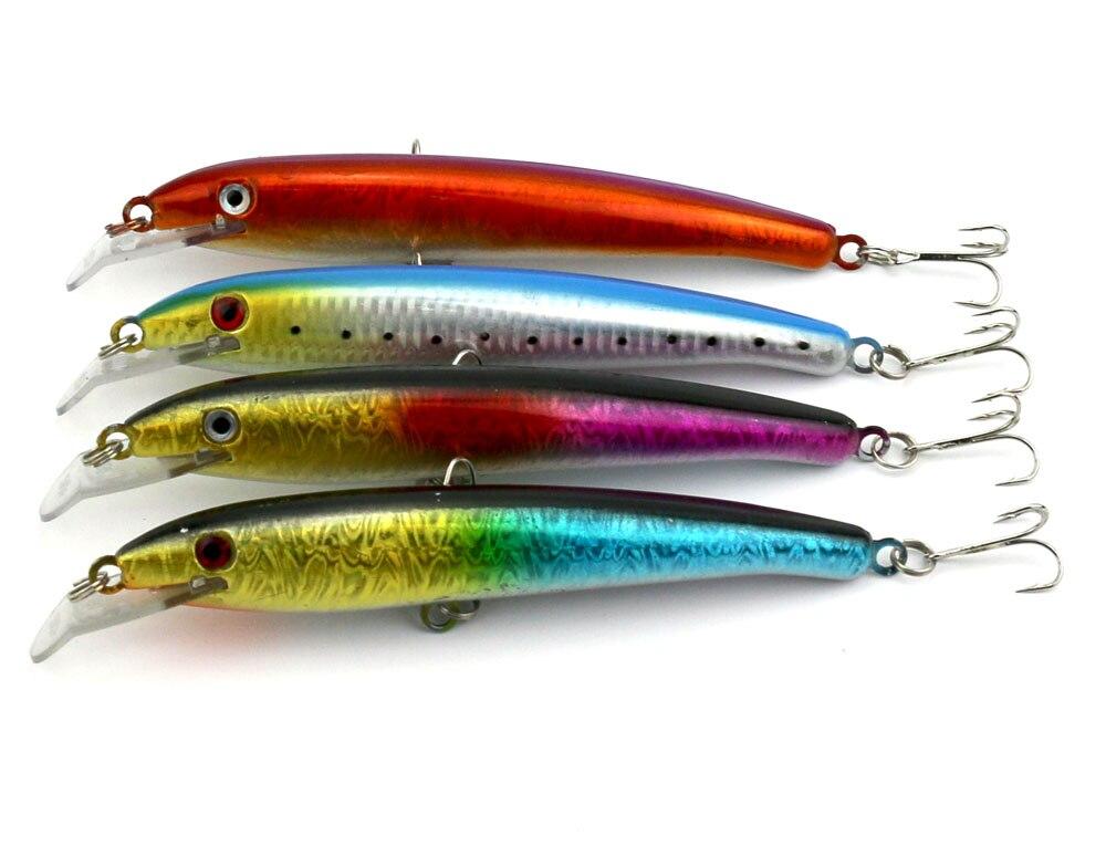 20pcs minnow fishing lure deep big Hard Baits 17CM 26.3G 2# hooks isca artificial 3d plastic fishing tackle two japan hooks