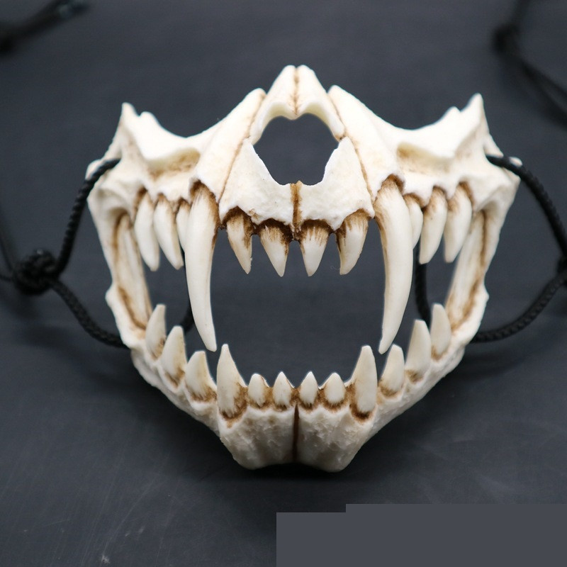 New The Japanese Dragon God Mask Eco-friendly and Natural Resin Mask for Animal Theme Party Cosplay Animal Mask Handmade 5 Types
