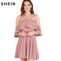 SheIn Autumn Dress Womens Sexy Dresses Party Night Club Dress Women Fall Dresses 2016 Off The