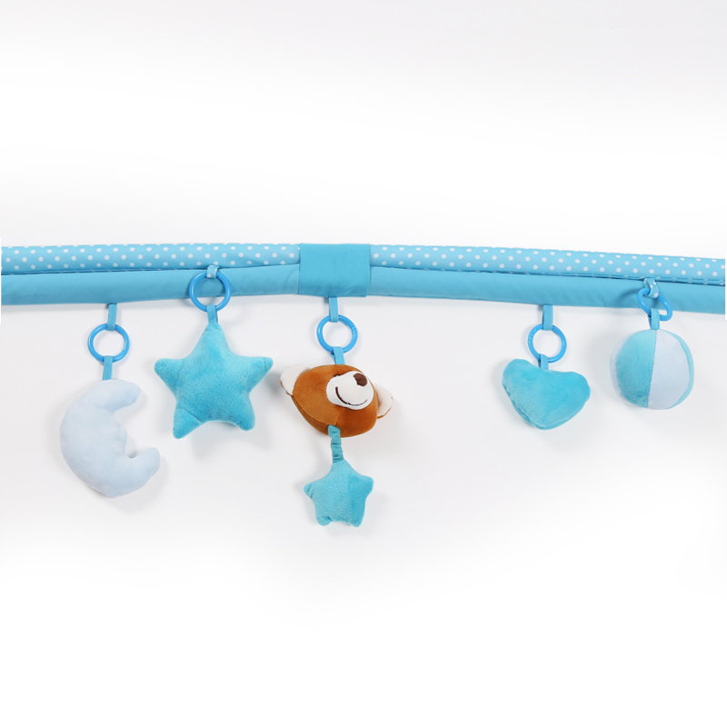 Children Real soft baby playpen Soft Baby Game Fence Crawl Guardrail Safe Hurdles with 5pcs Hanging Bells Gift Activity Gear - 5