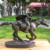 statue of animal chasing horse run horse racing industry decoration art club Home Furnishing jewelry gift ornaments