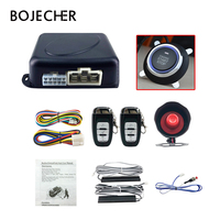 PKE keyless entry system key remote car alarm system auto central lock/unlock one start stop engine button car accessories
