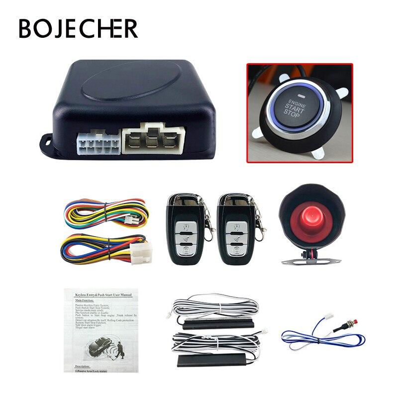 PKE système d'entrée sans clé clé système d'alarme de voiture à distance verrouillage central automatique/déverrouillage un démarrage arrêt moteur bouton accessoires de voiture
