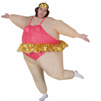 Newest Inflatable Ballet Mascot Costume Halloween Party Funny Fat Man Fancy Animal For Adults With Free