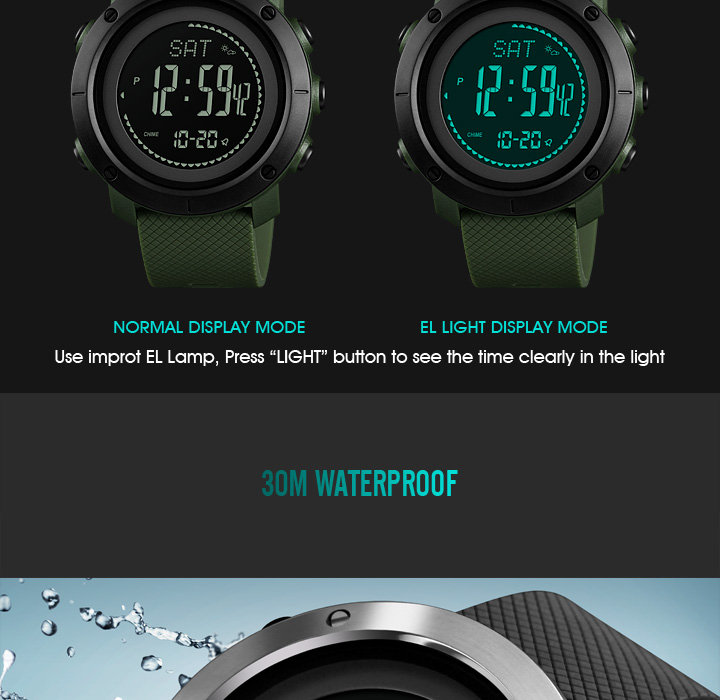 Watches Honest Sports Watches Men Pedometer Calories Digital Watch Women Altimeter Barometer Compass Thermometer Skmei Weather Reloj Hombre