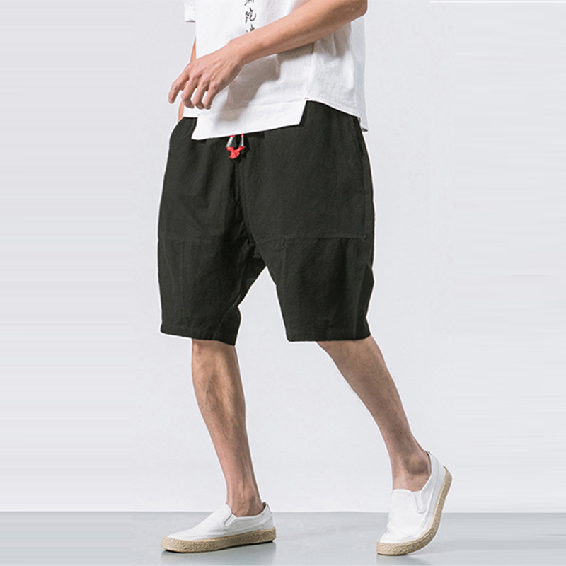 1b95e9b4c Occasion:Casual,Fashion,Vintage Season:Summer Product Description:Mens  Summer Breathable Cotton Linen Solid Color Knee Length Baggy Loose  Drawstring Casual ...