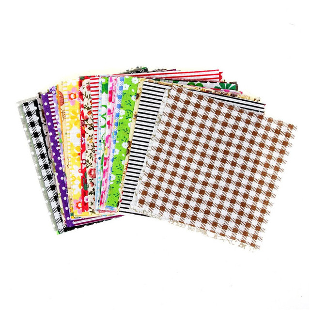 Floral Cotton Fabric Patchwork Cloth DIY Sewing Quilting Tissue Cloth for Clothes Bags Toys 10x10 cm Apparel Sewing Fabric 2