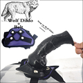 Lesbian Strapon Animal Dildo Suction Cup Strap on Wolf Dildo Realistic Wolf Dick Belt Purple Stain Erotic Sex Products for Women