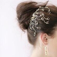 1 piece wedding bohemian gold siliver metal crystal rhinestone flower hair comb hair accessories hair jewelry