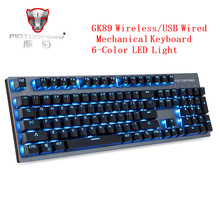Motospeed GK89 2.4GHz Wireless Bluetooth Keyboard USB Mechanical Keyboard 104Keys With RGB Backlit Wireless Gaming Keyboard цена