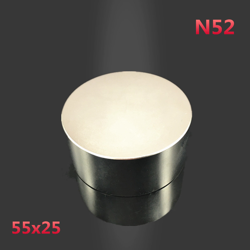2pcs Dia 55*25mm  neodymium 55x25 mm hot round magnetic Strong magnets Rare Earth Neodymium Magnet 55mmx25mm wholesale 55*25 mm powerfull pot magnet magnet super heavy magnetic hook holder neodymium rare earth dia 10mm hot sale 2pc