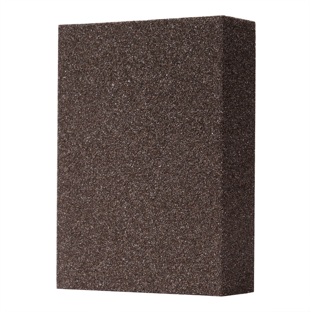 5pcs L 60-80# Polishing Sanding Sponge Block Pad Set Sandpaper Assorted Grit