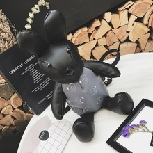 Новая коллекция милый мультфильм кролик женский рюкзак корейский стиль модные панелями мини-сумка Повседневная личный рюкзак