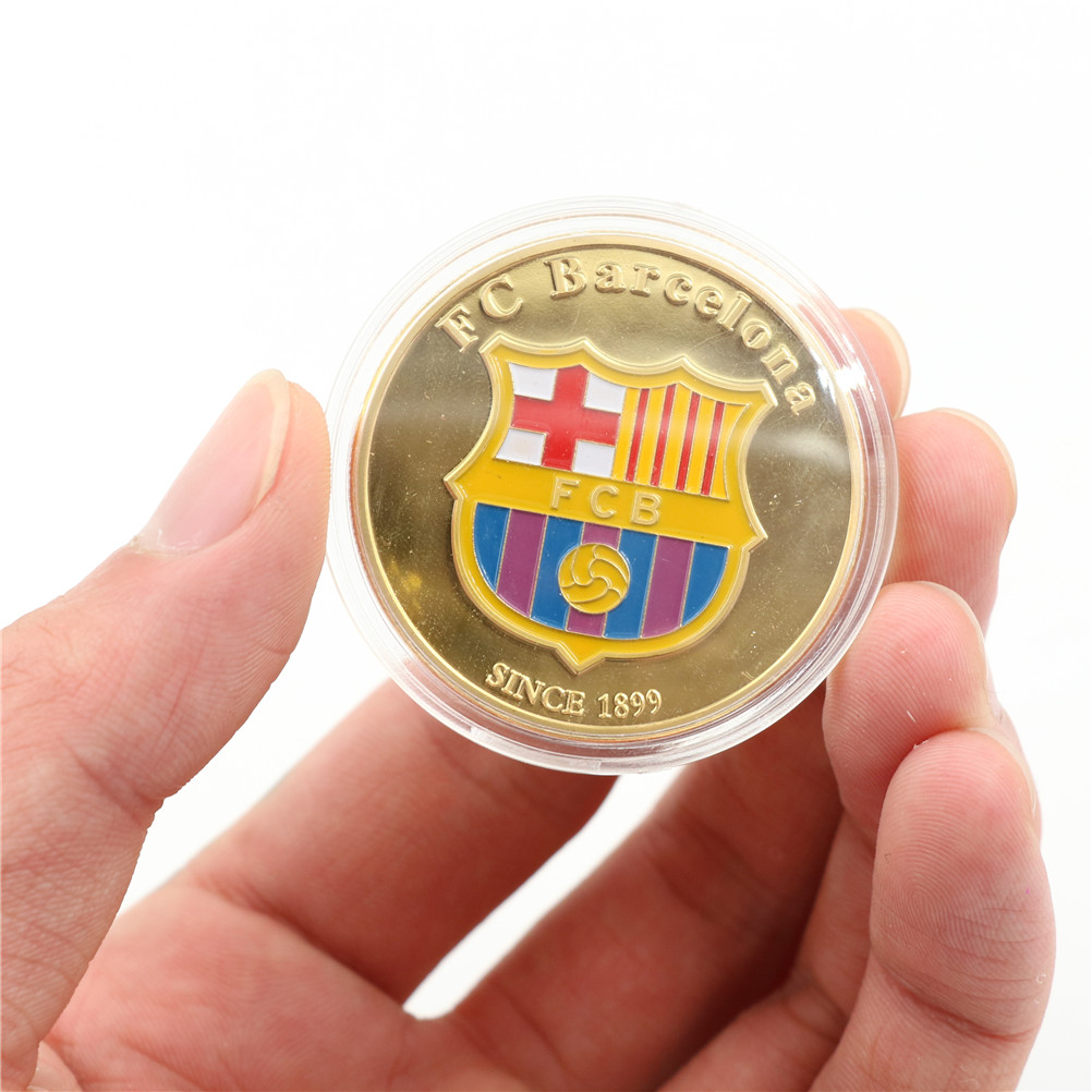1pc Soccer Football Superstar Lionel Messi Commemorative Coin Collection Gift Soccer Player Gold Coins Collectibles