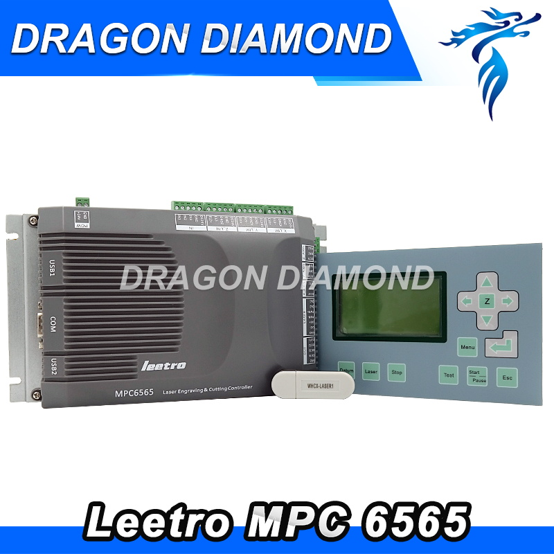 Leetro MPC6565 laser controller update from MPC6535 laser controller for CO2 laser Engraving and Cutting Machine co2 laser machine laser path size 1200 600mm 1200 800mm