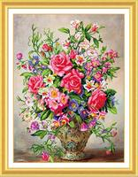 New Rhinestone Mosaic Painting Home Decorate 5D DIY Diamond Painting Red Roses Scenic Wall Sticker Embroidery