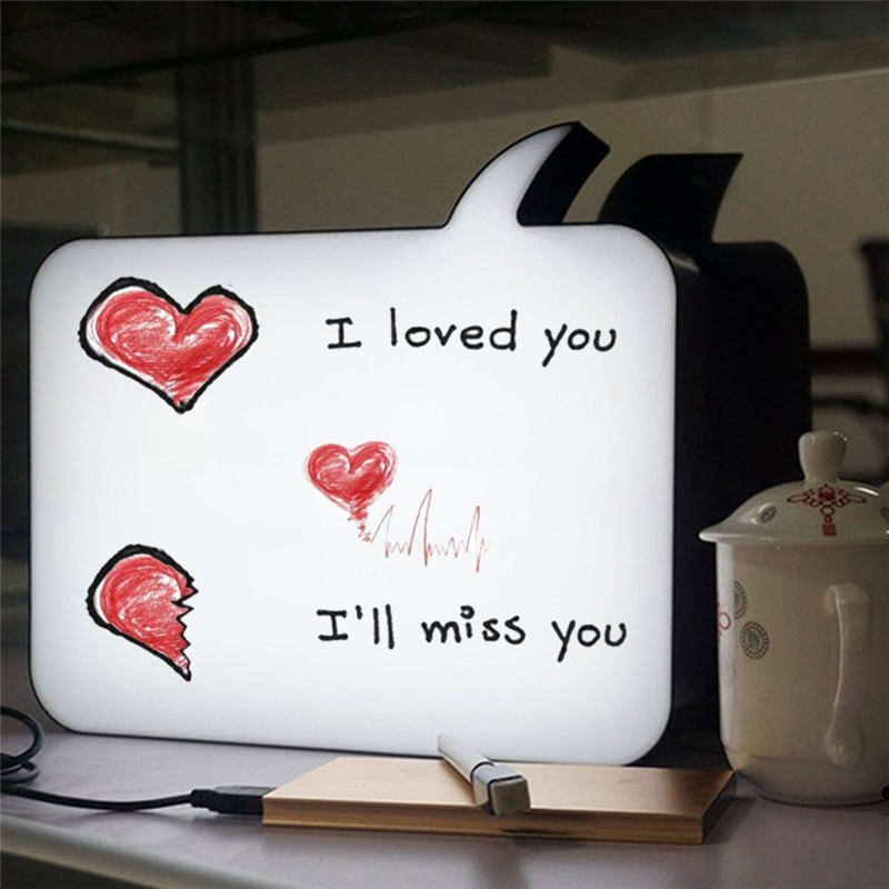 Wrumava Advertising letter LED Light Box A4 Size Cinematic Message Handwriting for Birthday Party Wedding Wall Bar Decoration