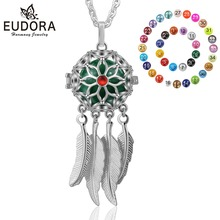 Eudora 18mm Dreamcatcher Feature Charm Ball Cage Pendant Necklace fit 20/18mm Musical Sound Chime for Pregnant Women K294