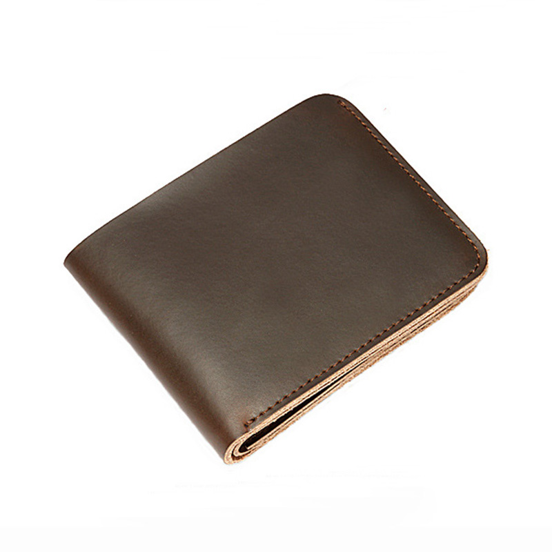 Handmade Retro Wallet Men Cow Leather