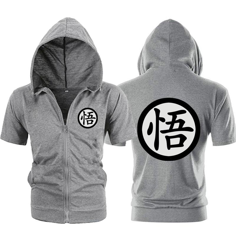 Short Sleeve Zipper Mens Hoodies Jackets