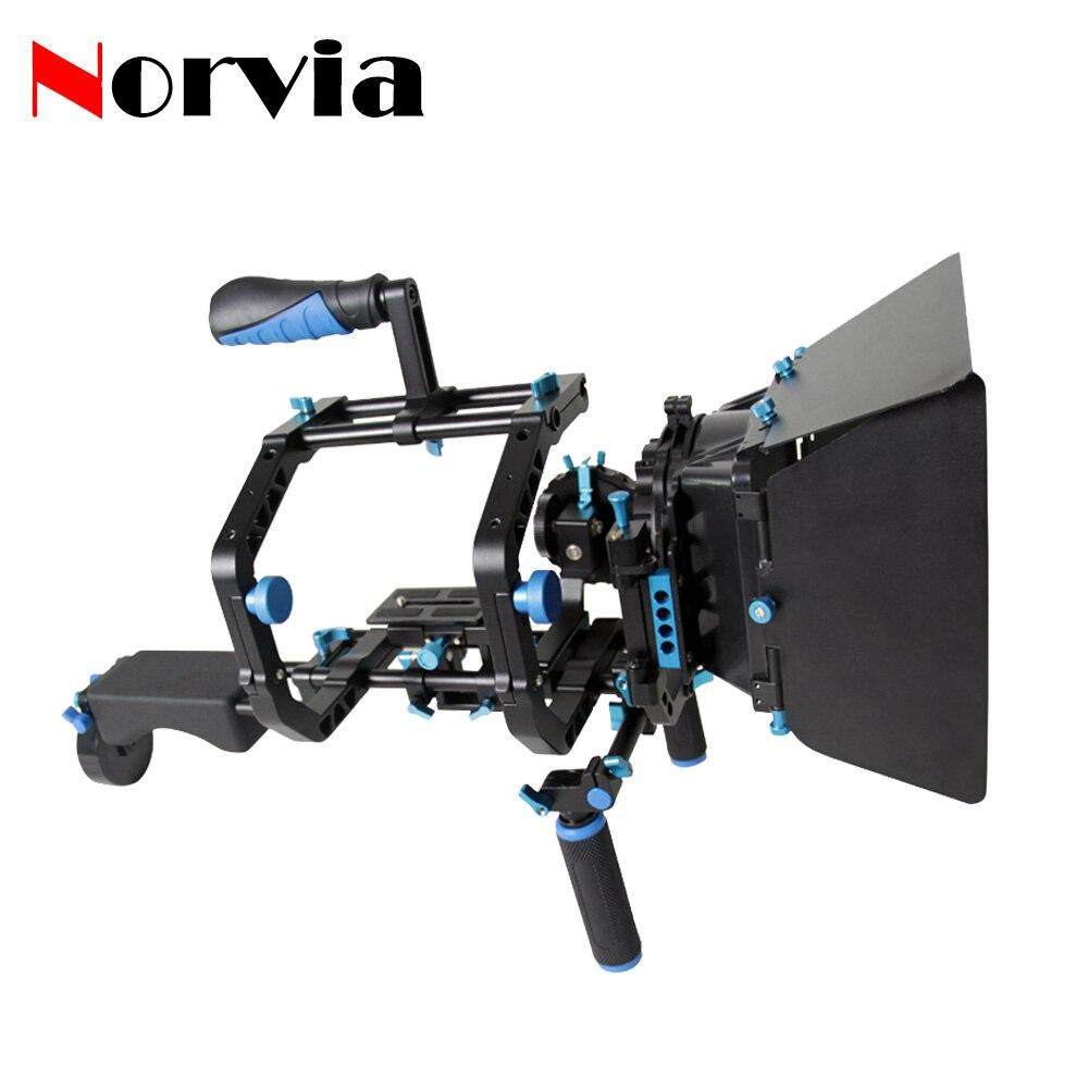 Norvia T16 DSLR Двойной Буквы C Форма Плечевой Камкордер Рог Матовая Коробка следуйте Фокус Для Canon 5D 6D 7D 60D 5DII 5 DIII Видео видеокамеры