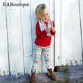 EABoutique Winter Street Fashion Cute deer pattern legging with swearshirt scarf girls clothes set 3 piece