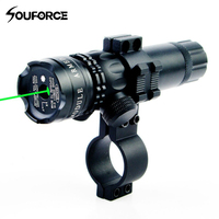 Green Dot Laser Sight Adjustable Switch Rifle Scope fit 20mm Standard Weaver and Picatinny Rail for Gun Hunting