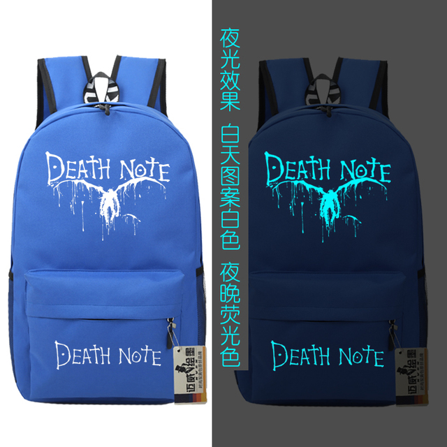 Death Note Backpack  Luminous Schoolbag