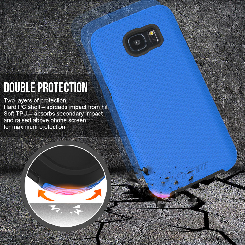 DEVMO Phone Case Compatible with Samsung Galaxy S7 Edge G935 Hard Plastic Shell Case//Shockproof Hard Bumper//Protective Cover Dark Blue